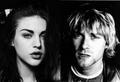 Kurt Cobain .Frances Bean Cobain