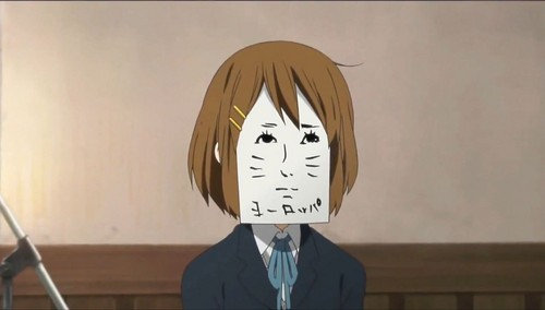 K-ON! wolpeyper titled LOL Yui