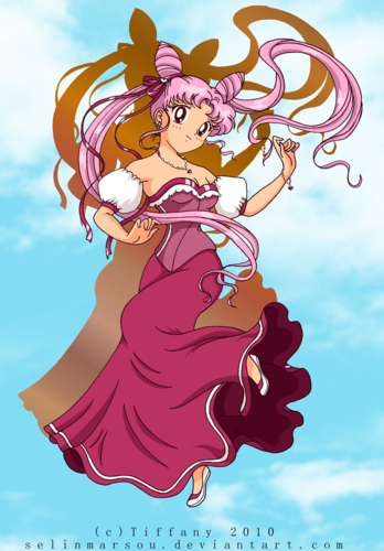 Sailor Mini moon (Rini) wallpaper probably with animê entitled Lady Chibiusa