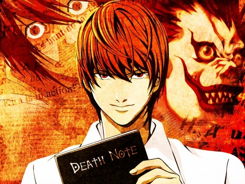 death note wallpaper containing anime titled Light Yagami