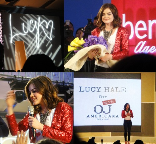 Lucy Hale Bench OJ Americana Fashion Show - pretty-little-liars-tv-show Photo