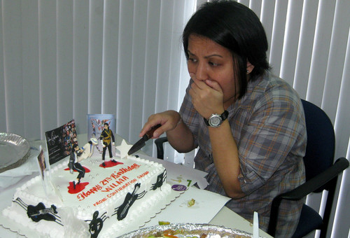 MJ birth cake