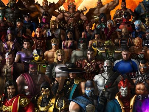 Mortal Kombat kertas dinding entitled MK