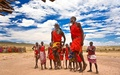 Maasai warriors dancing - anthropology wallpaper