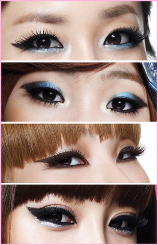 Makeup of Korean girl band 2NE1 - makeup Photo