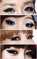Makeup of Korean girl band 2NE1