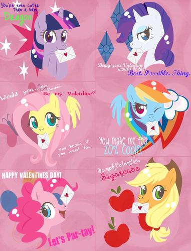 Mane six valentines