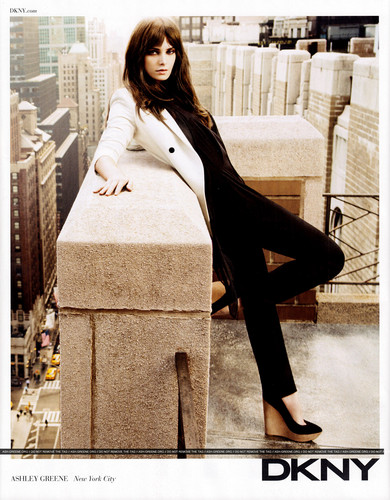New DKNY Scans from Ashley's campaign {Harper's Bazaar/ Elle magazine}