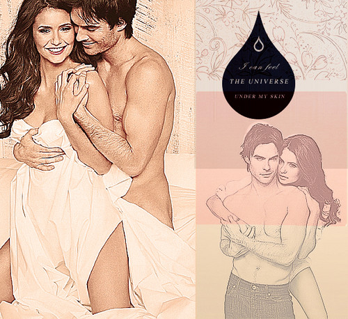 Ian Somerhalder and Nina Dobrev wallpaper called Nina & Ian
