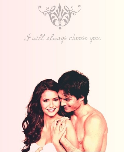 Ian Somerhalder and Nina Dobrev wallpaper with skin titled Nina & Ian