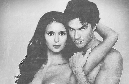 Ian Somerhalder e Nina Dobrev wallpaper with skin and a portrait called OMG!!!