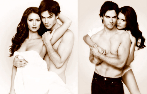 Ian Somerhalder and Nina Dobrev wallpaper called OMG!!!