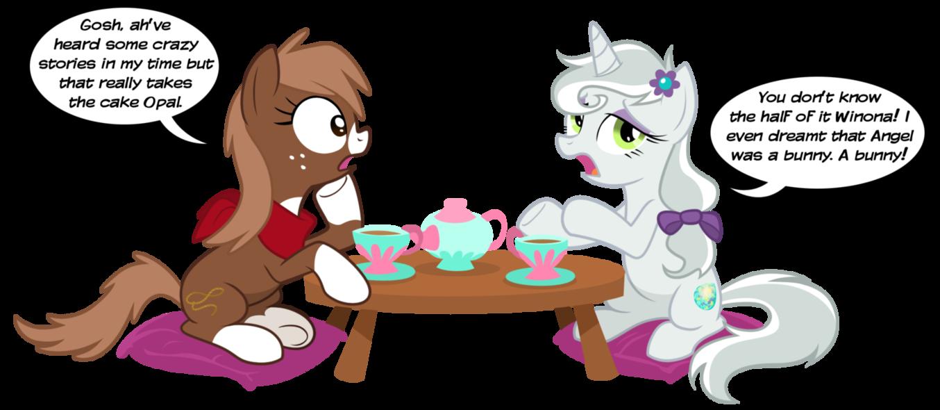 Opalescence And Winona My Little Pony Friendship Is Magic Fan Art 28962531 Fanpop
