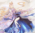 Princess Serenity & Black Lady - sailor-mini-moon-rini fan art