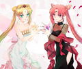 Princess Serenity and Black lady