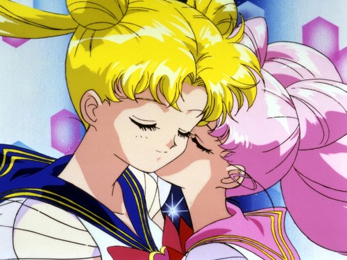 Sailor Mini moon (Rini) Hintergrund with Anime called Rini KISS Serena