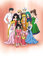 Rini with her friends - sailor-mini-moon-rini photo