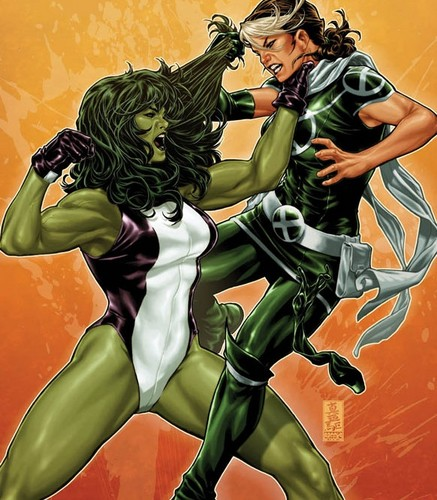 Rogue images Rogue vs She-Hulk wallpaper and background photos