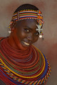 Samburu dancer in traditional garb - anthropology photo