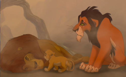 Scar showing Simba some simphaty