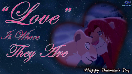 Simba and Nala Amore HD wallpaper Valentine