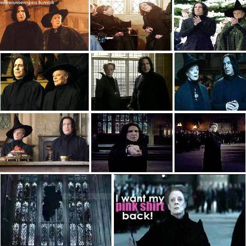 Snape and McGonagall -BFF