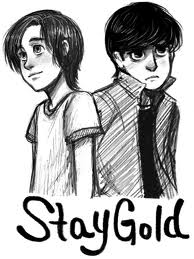 The Outsiders wallpaper probably containing a portrait titled Stay Gold JC&PC