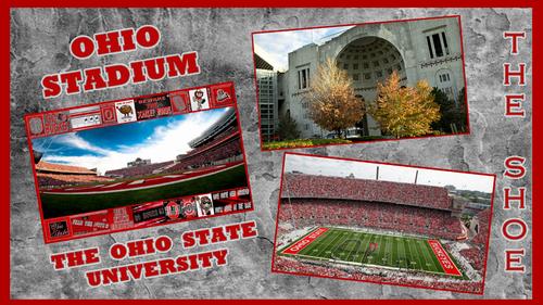 fútbol del estado de Ohio fondo de pantalla possibly with a sign titled THE SHOE