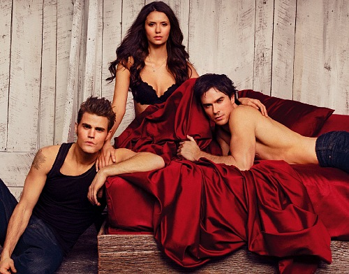 The Vampire Diaries wallpaper possibly containing a cena dress, a bridesmaid, and a cocktail dress titled TVD EW photoshoot