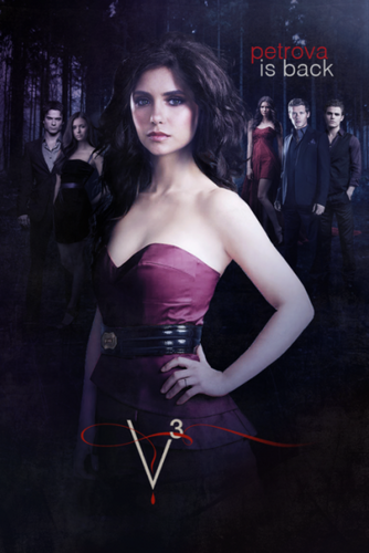 The Vampire Diaries TV toon achtergrond possibly containing a bustier, a cocktail dress, and a leotard called The Vampire Diaries - Episode 3.14 - Dangerous Liaisons - Promotional Poster & BTS foto's