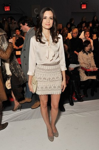 Torrey DeVitto attends New York Fashion Week February 2012