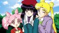 Usagi, Chibiusa and Hotaru