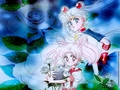 Usagi and Chibiusa - sailor-mini-moon-rini wallpaper