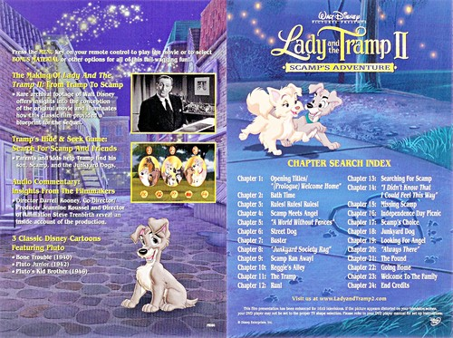 Walt ディズニー Inlays - Lady and the Tramp II: Scamp's Adventure
