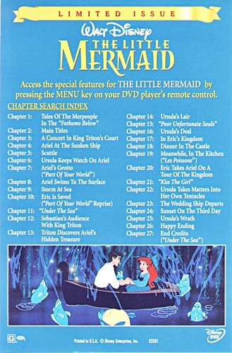Walt Disney Inlays - The Little Mermaid (Limited Edition)