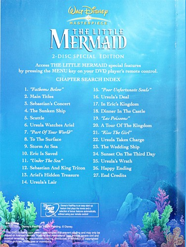 Walt ডিজনি Inlays - The Little Mermaid (Special Edition)