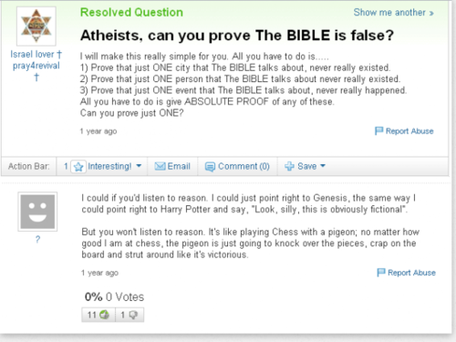 atheists, can আপনি prove the bible is false