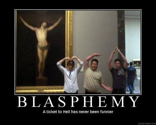 blasphemy  - atheism Photo