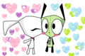 gir and lir romance - invader-zim fan art