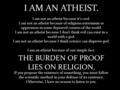 i am an atheist - atheism photo