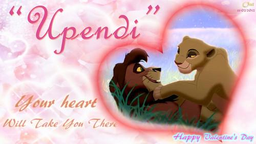 Kovu and Kiara upendo HD karatasi la kupamba ukuta Valentine