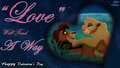Kovu and Kiara love HD Wallpaper Valentine