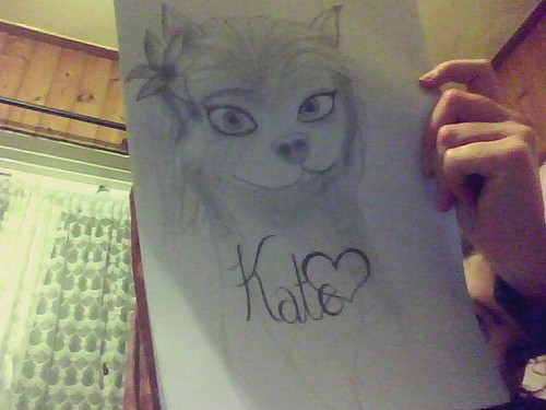 my fail of drawing kate haha :P but i guess it's okay for a first try Xxx