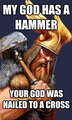 my god has a hammer - atheism photo