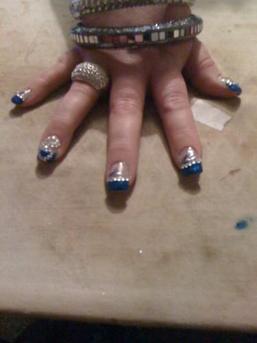 my nail art 'heart of the ocean' design.