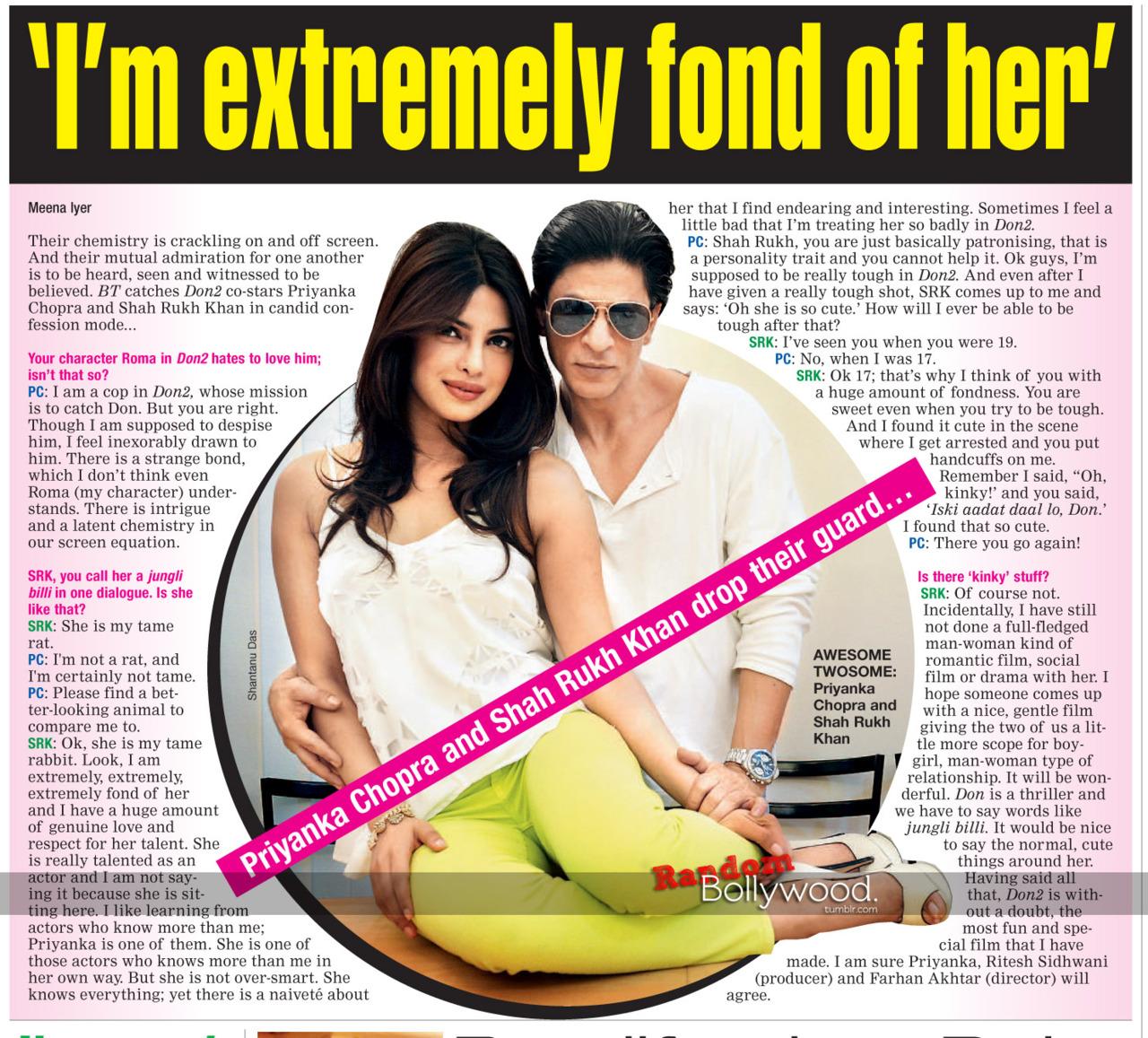 priyanka and SRK