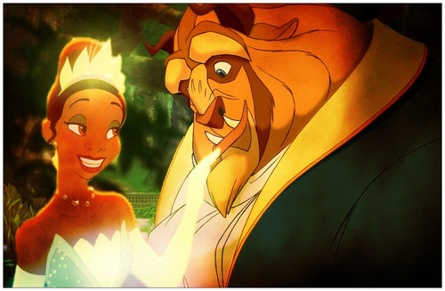 tiana and the beast