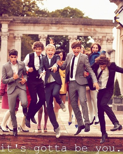 One Direction پیپر وال with a business suit, a suit, and a well dressed person titled #1D imagines ! xx :')