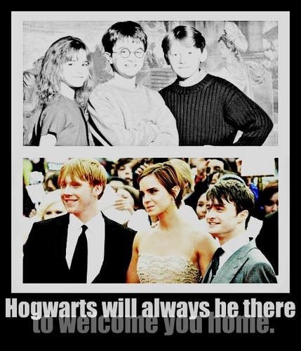 """...Hogwarts will always be there to welcome あなた home."""