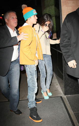 Justin Bieber and Selena Gomez in NYC